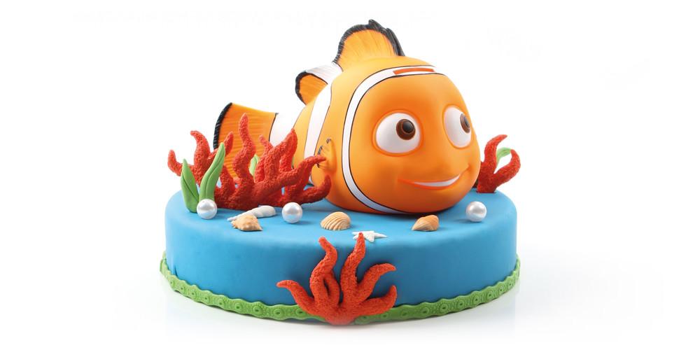 Nemo taart met spaarpot Nemo figuur - Bakeronline