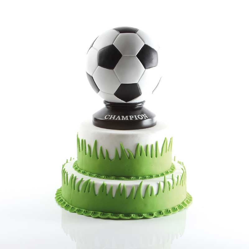 Voetbaltaart met spaarpot voetbal - Bakeronline