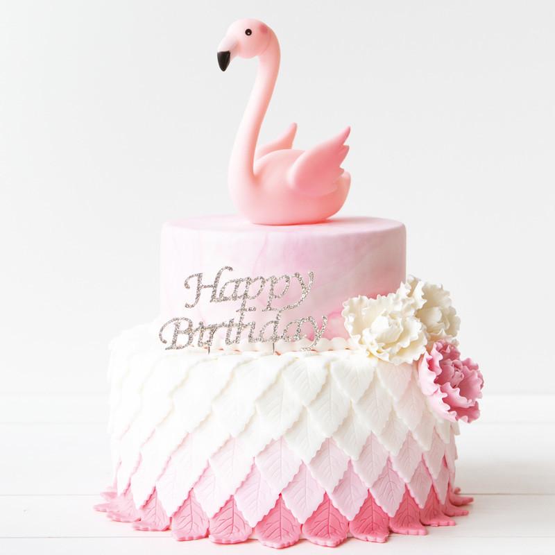 Flamingo taart - Bakeronline