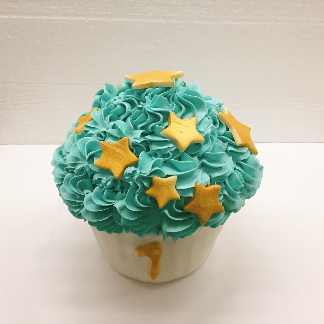 Smash cake blauw. 8 personen. Ideaal voor fotoshoot  - Bakeronline
