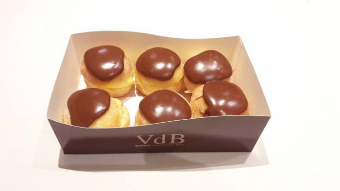 Bakje 6 mini bouls chocolade - Bakeronline