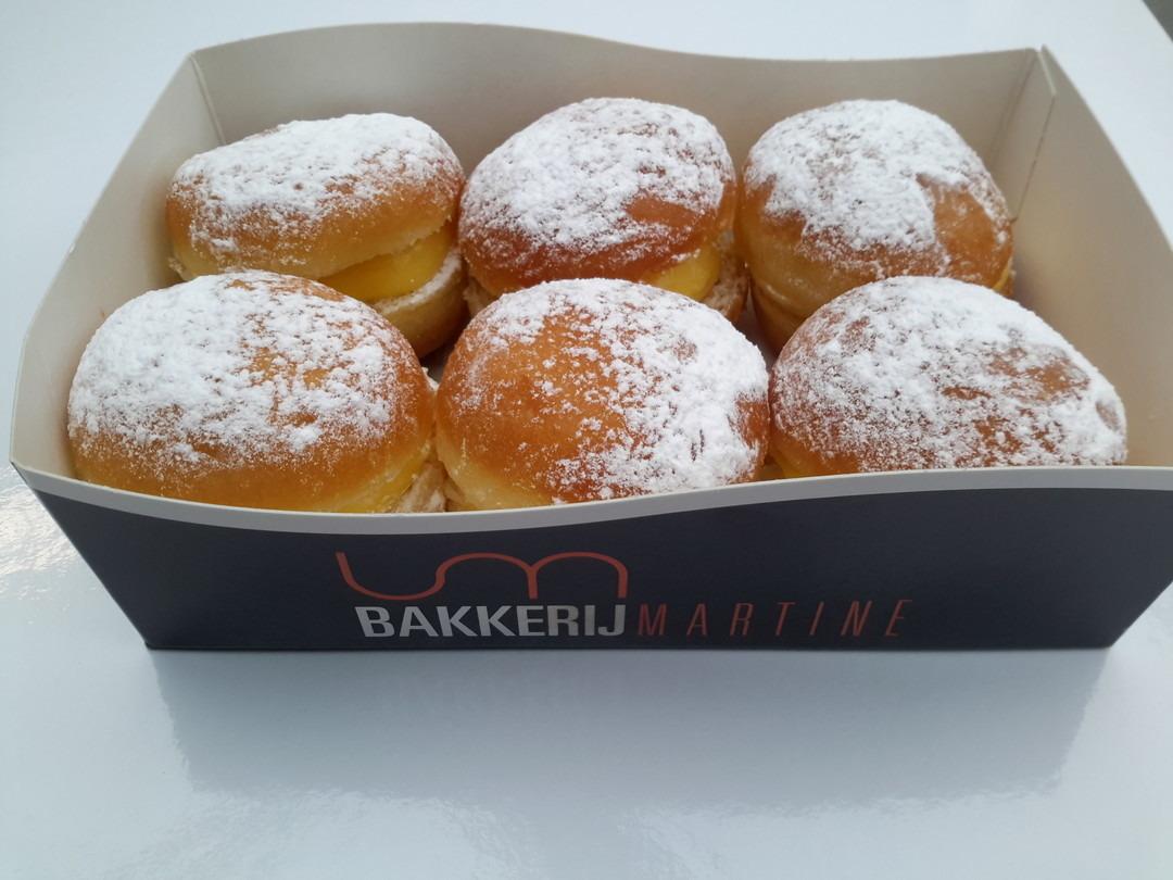 Mini berlijnse bollen / doosje 6 stuks - Bakeronline