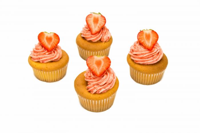 Vanille cupcakes aardbei - Bakeronline