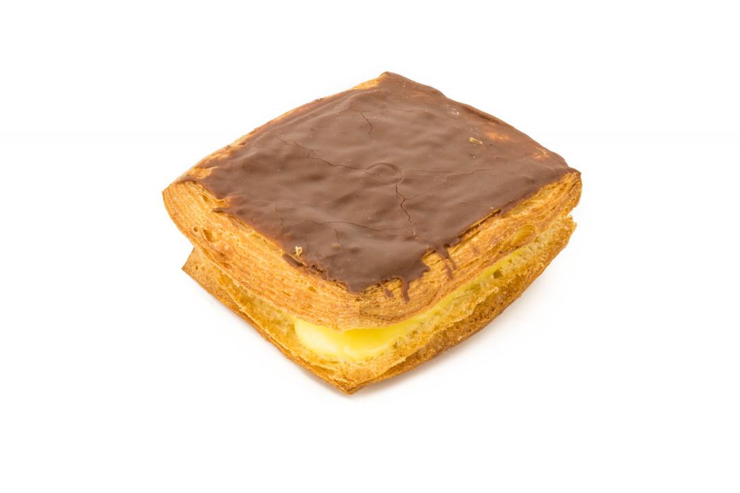 Platte Crèmekoek Chocolade - Bakeronline
