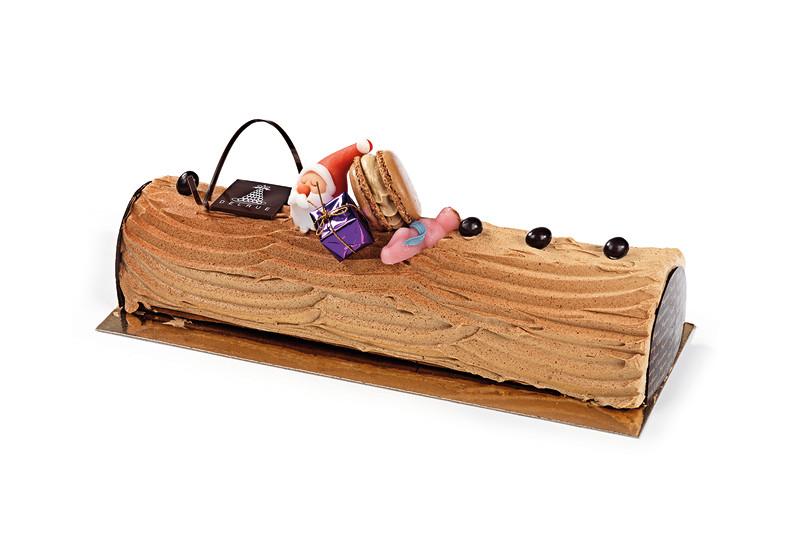 Kerststronk Boterroom koffie - Bakeronline