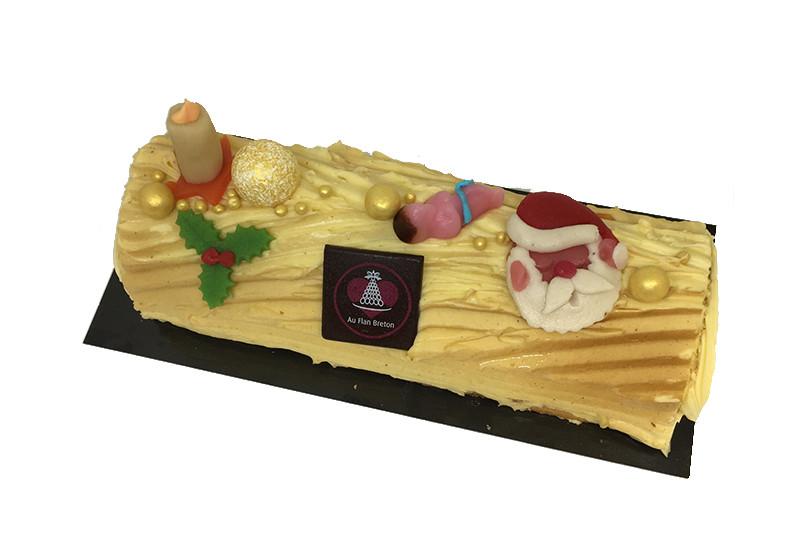 Kerststronk Boterroom vanille - Bakeronline
