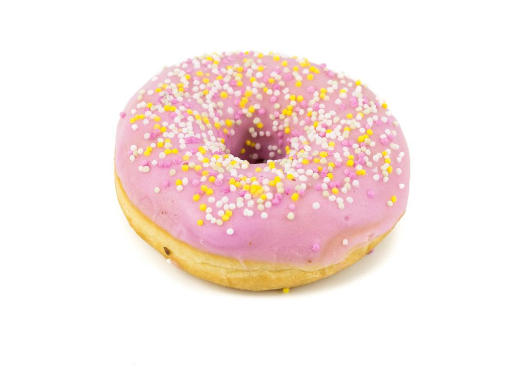 Roze donut - Bakeronline
