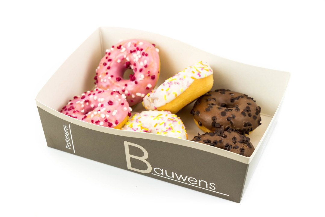 Doosje met 6 mini donuts - Bakeronline