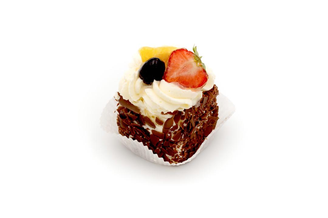 Slagroomtaartje fruit - Bakeronline